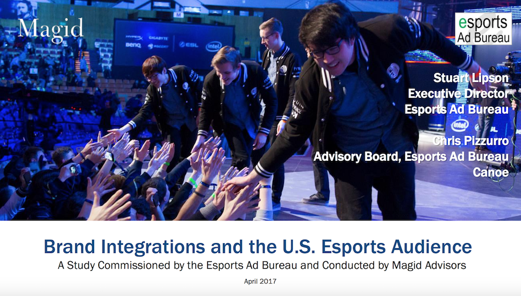 Esport brand integrations and the US audience