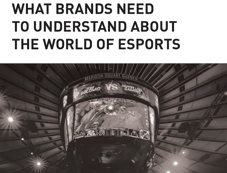 A perspective on what brands need to understand about the world of esports