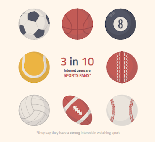Profile of global sports fans infographic